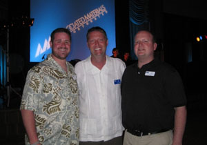 Below picture is Darin Wilson (General Manager Suburban), Jim Nezbeth (AMI Vice President Western Region), JR Girskis (President Suburban) picture taken on Associated Materials Dealer Awards trip Feb 2009.